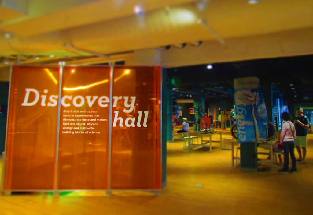 The Discovery Hall is filled with hands-on interactive exhibits.