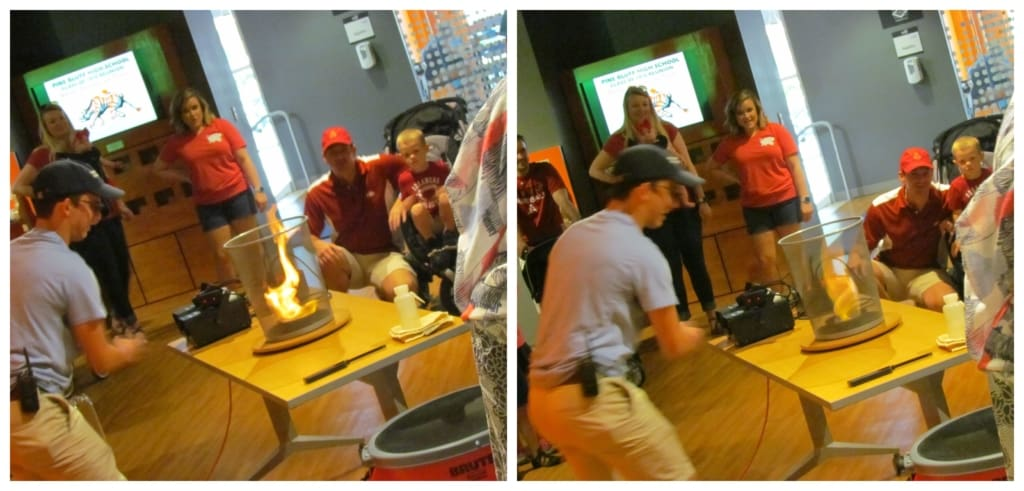 Museum staff engage regularly with patrons with scientific demonstrations.