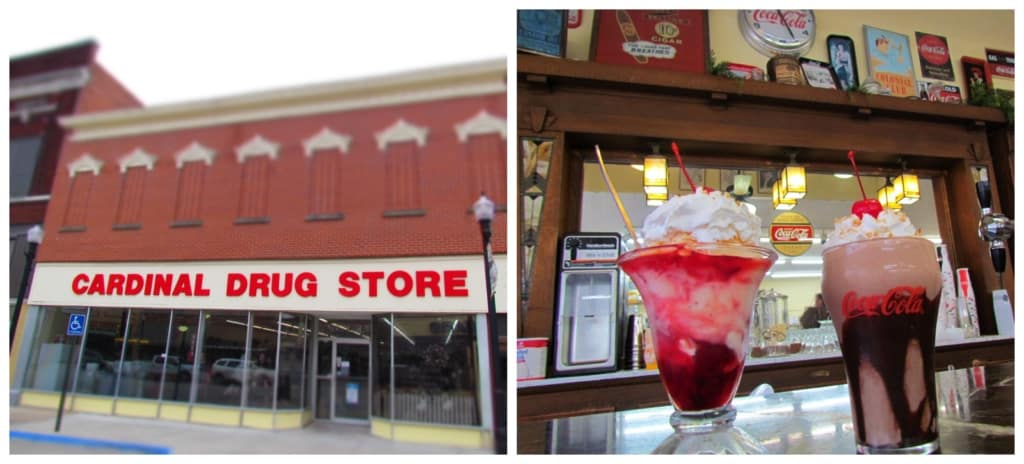 A stop at Cardinal Drug Store included some delicious treats at their soda fountain.