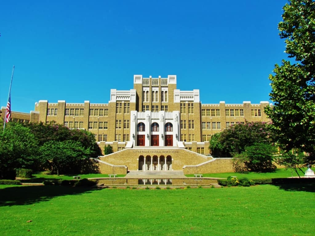 Little Rock Central High School has amazing architectural features, and an interesting history.