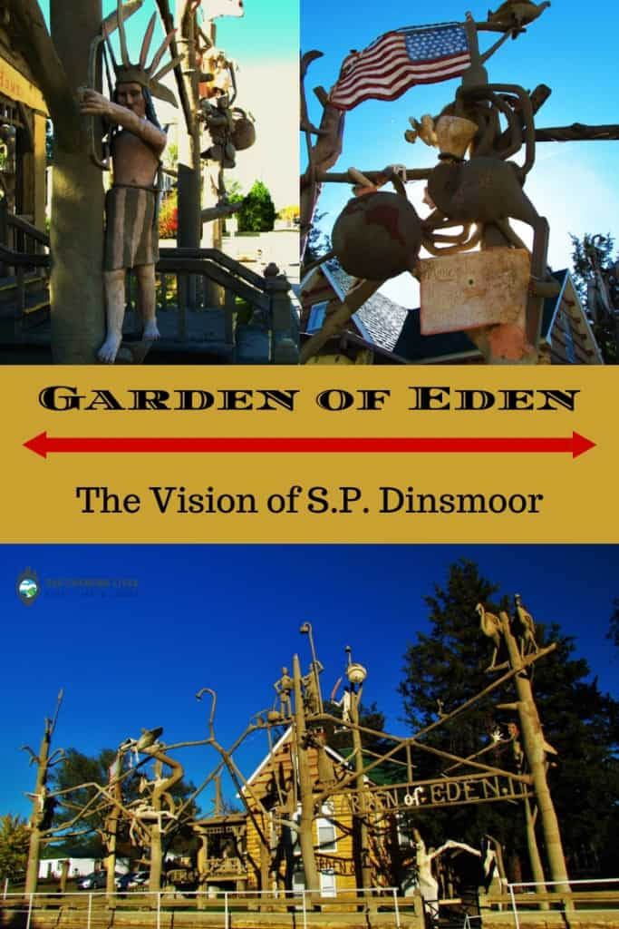 Garden of Eden-S.P. Dinsmoor-Lucas, Kansas-tourist attraction-grassroots art-sculpture-Kansas tourism