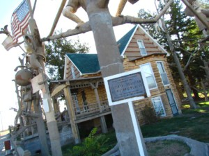 The Garden of Eden is a historic site located in Lucas, Kansas.