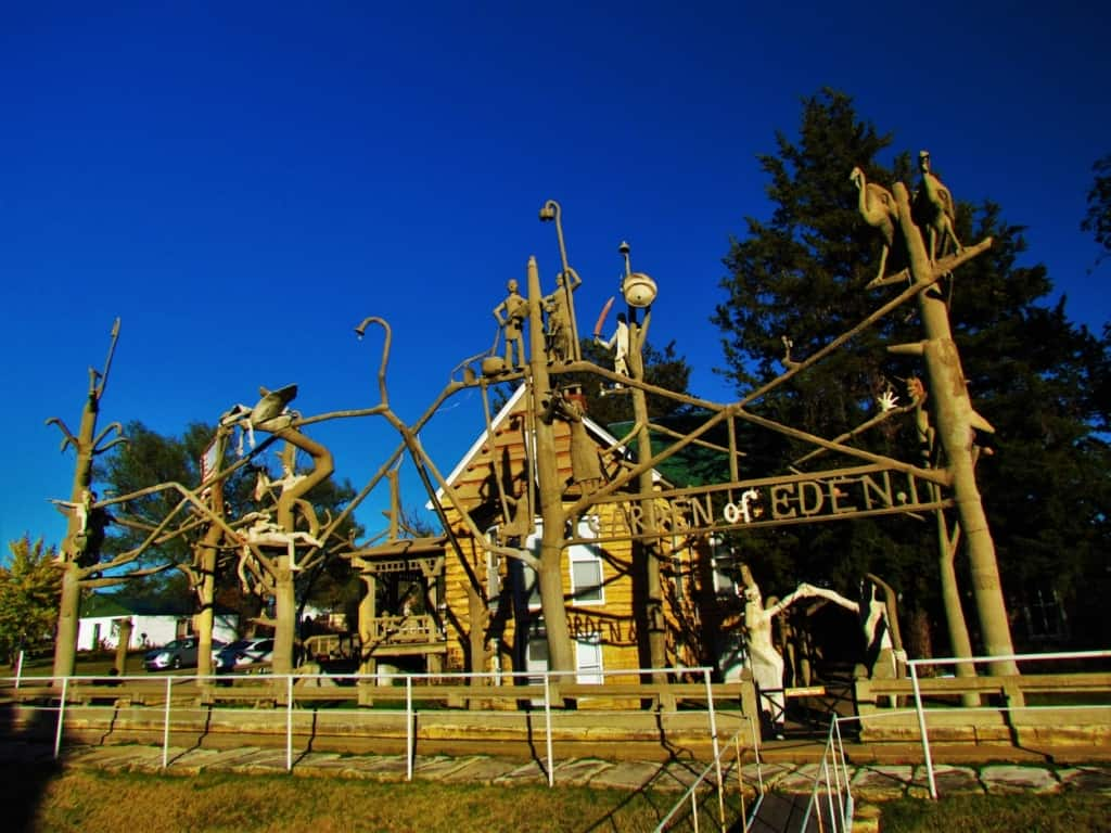 The Garden of Eden is a main attraction for travelers to Lucas, Kansas.