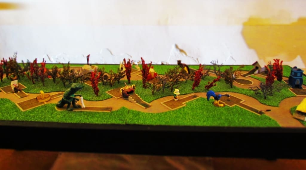 The World's Smallest Miniature Golf course can actually be played.