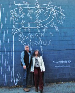The authors explore the Selfie Alley located in Parkville, Missouri.