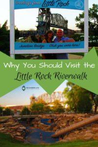 Little Rock Riverwalk-playground-lighted bridges-pedestrian-statues-Central Arkansas River Trail
