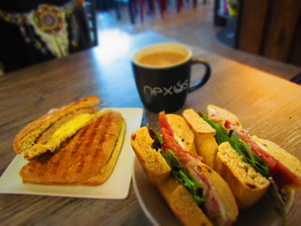 Breakfast sandwiches, from Nexus Coffee, offer plenty of fuel for a day of exploring.