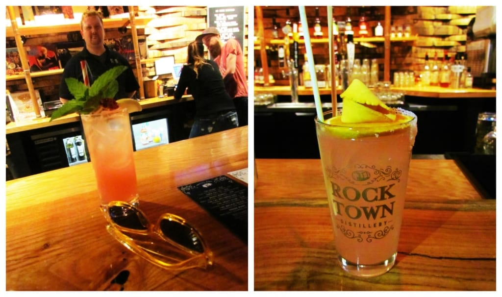 The cocktails at Rock Town Distillery are as decorative as they are delicious.