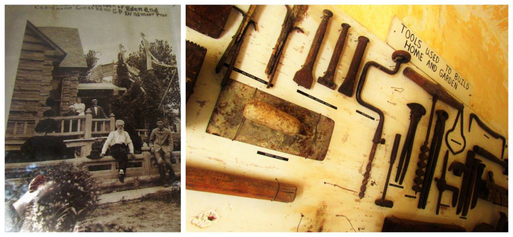 Samuel Dinsmoor built his home and exterior structures using hand tools commonly found at the turn of the century.