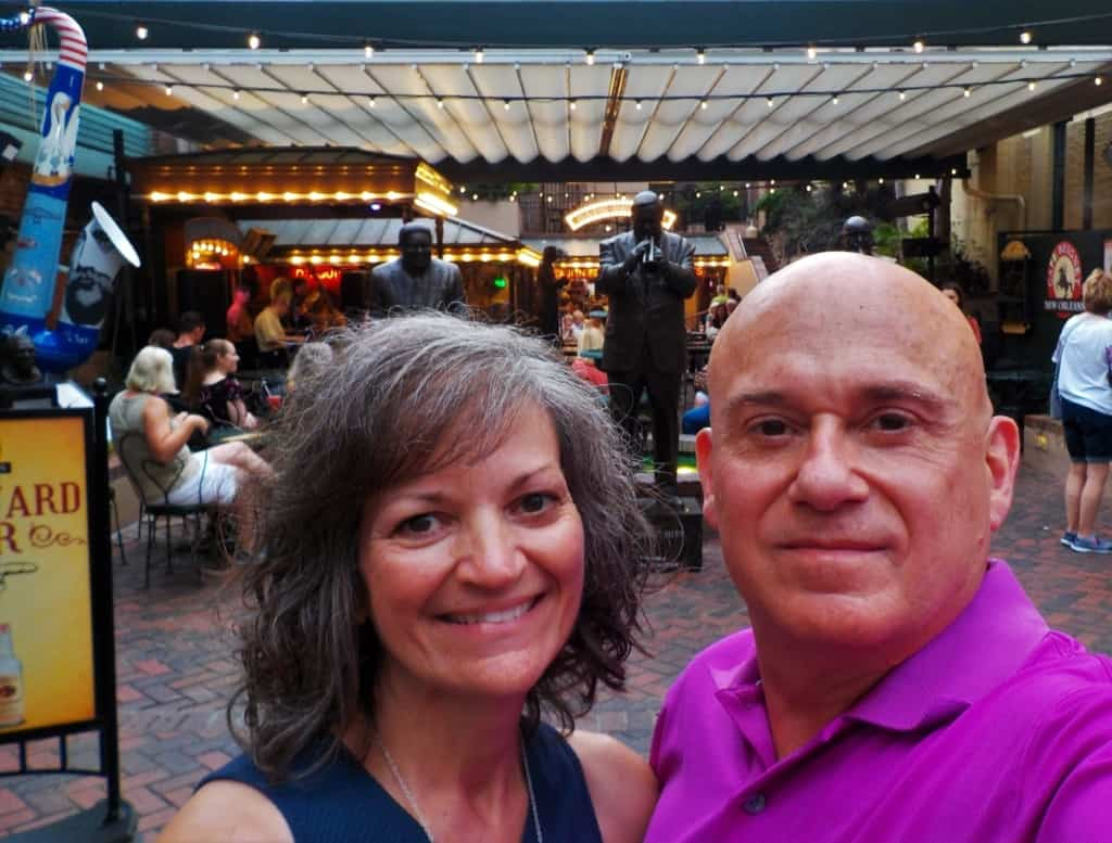 The authors pose for a selfie during their research trip in New Orleans.