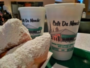 Cafe Du Monde is the name for beignets in New Orleans.