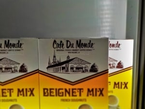 Visitors can buy beignet mix to make at home.