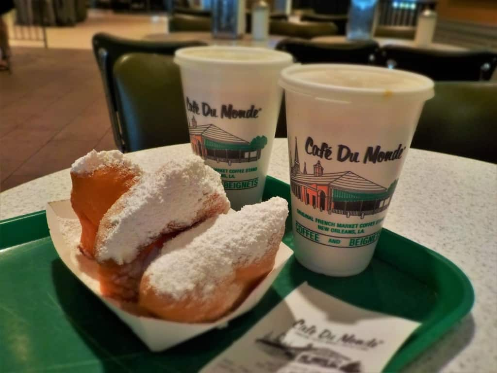 Beignets and chicory coffee are a New Orleans staple.