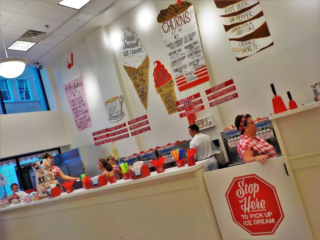 Cruze farm dairy tempted us with their delightful soft serve ice cream treats.