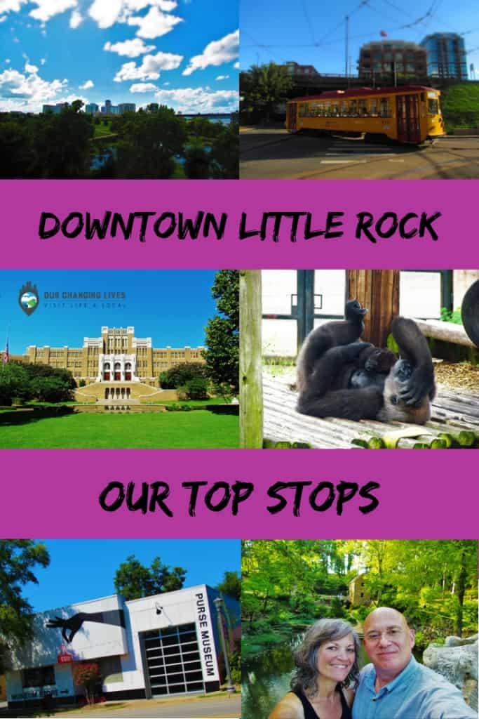downtown Little Rock-attractions-exploring-riverwalk-Esse purse museum-streetcar-Central High School-Clinton Presidential Library-the Old Mill