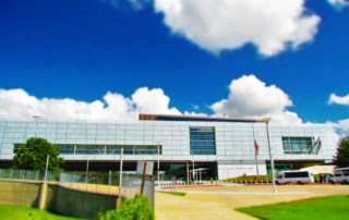 The Clinton Presidential Library has amazing architecture and offers dramatic views of downtown Little Rock.