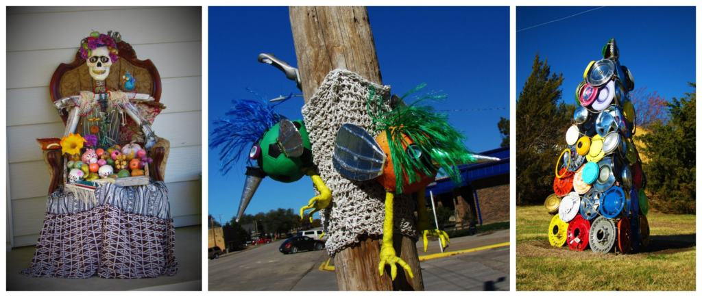 The local residents are an artistic group who display their talents for public view.