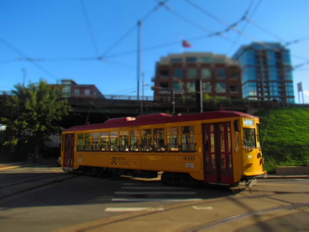 The streetcar makes it easy to get around in downtown Little rock.