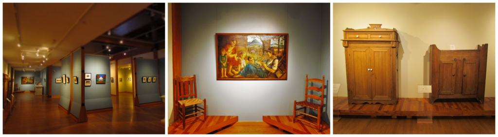 Arkansas made artwork and furniture can be seen in the galleries at the Historic Arkansas Museum.