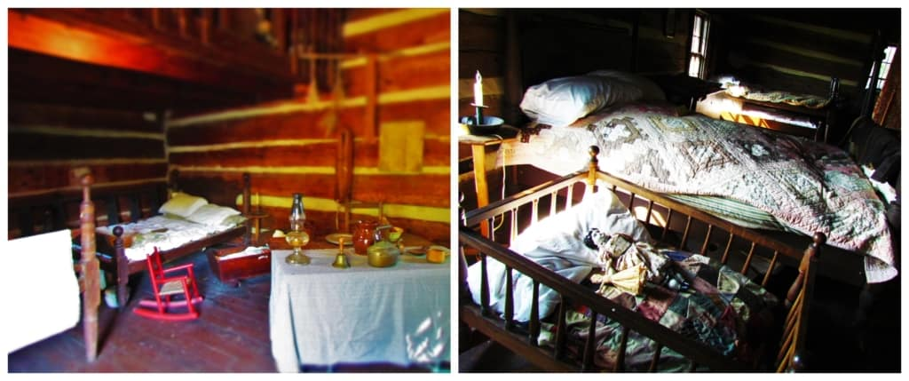 The living spaces at James White;s Fort would have held lots of family and friends.