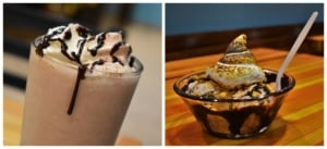 A boozy shake and a smore's sundae are a perfect taste combination.
