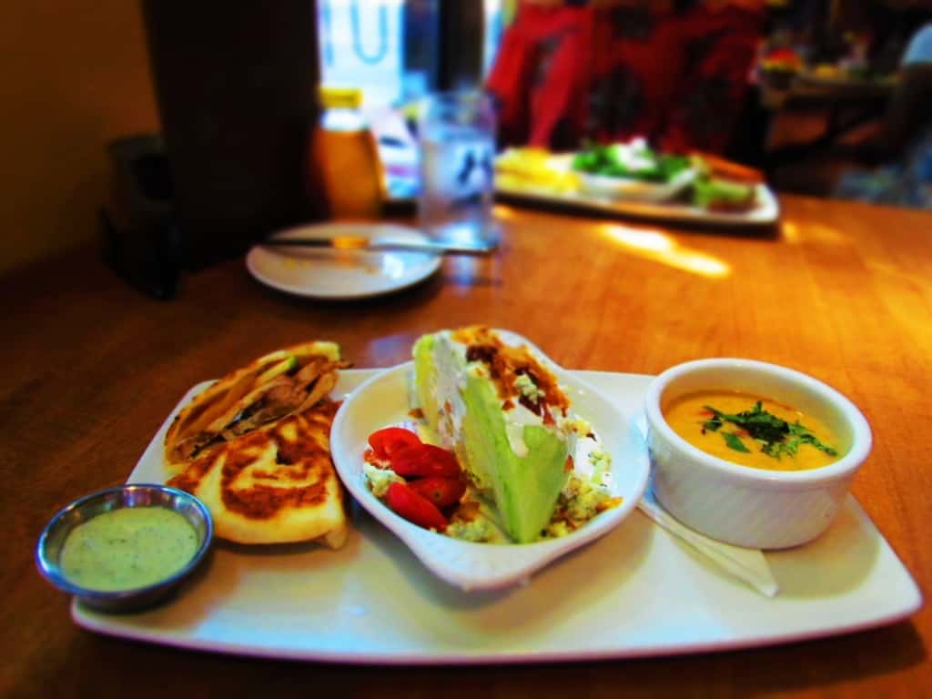 Lunch plates allow for a half sandwich, salad or soup, and a side dish.