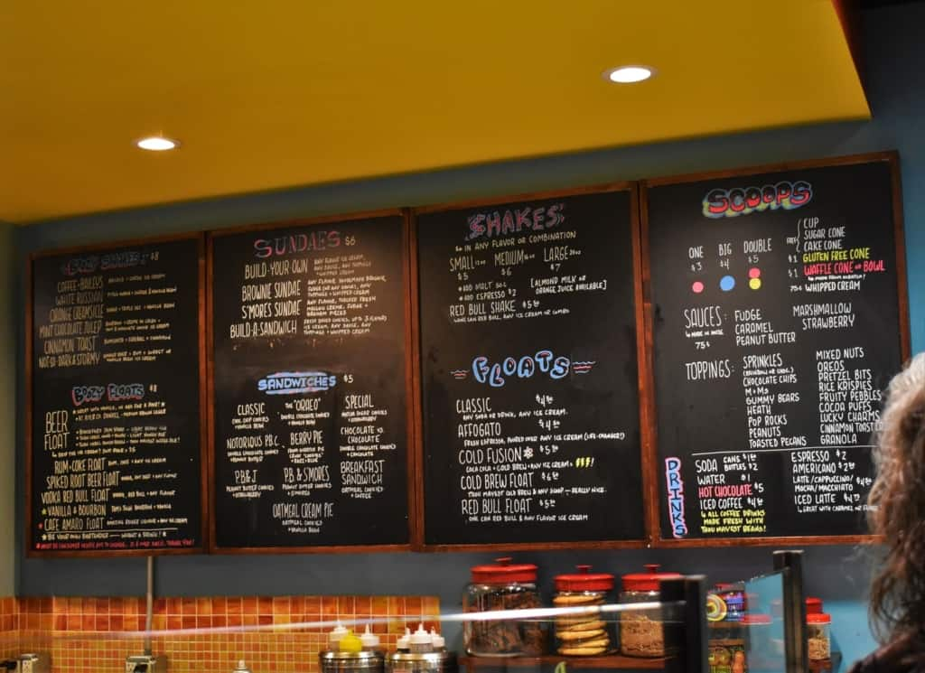 The menu at Betty Rae's is filled with a great variety of sweet treats.