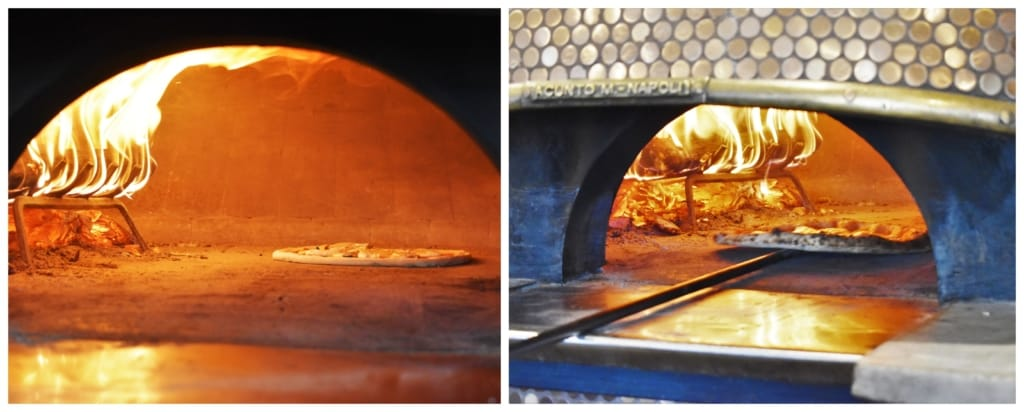 Classic pies are created with wood-burning ovens at 1889 Pizza Napoletana.