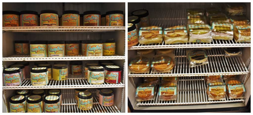 Betty Rae's has prepacked ice cream treats ready to go.