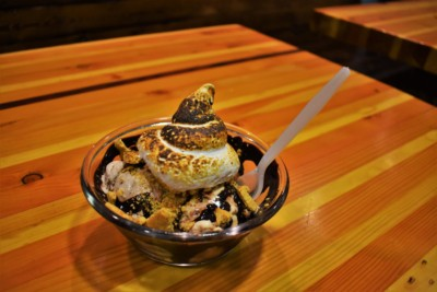 The Smore's Sundae is a flavor combination sure to remind you of a starry night.