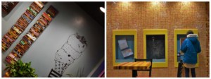 Betty Rae's has some interesting wall art and also offers space for kids to create their own.