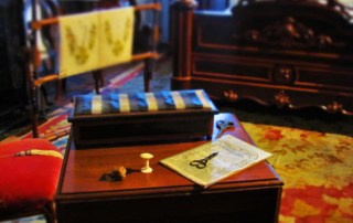 The 1850 House is filled with artifacts that would have been coomon to a household during the westward expansion.