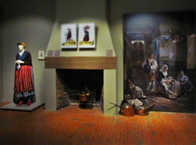 A display at teh Cabildo offers a view of life in ethe early days of New orleans.