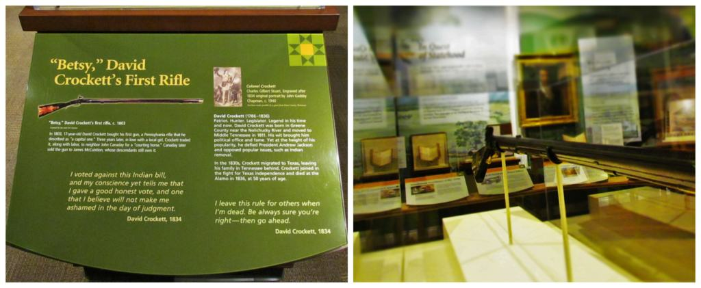 Davy Crockett's rifle is an example of the tools used by the early explorers and trappers in East Tennessee.