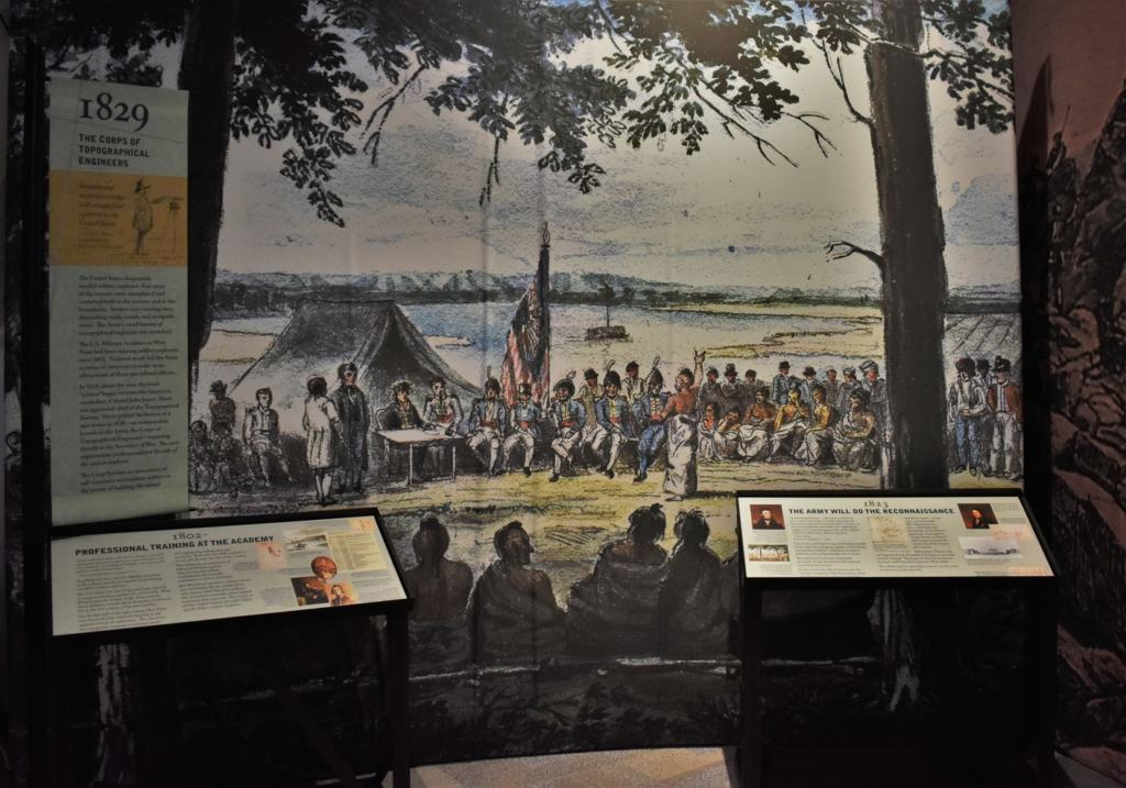 The Corps of Topographical Engineers were assigned the duty of mapping the new lands gained through the Louisiana Purchase.