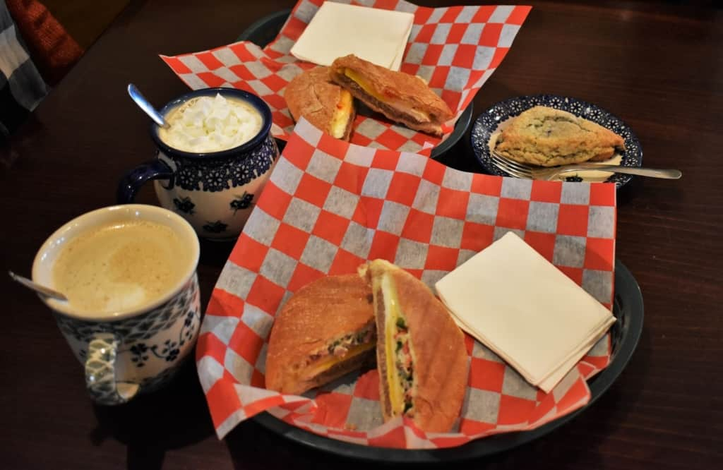 Breakfast paninis are a great addition to our coffee.