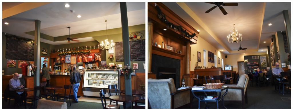 Lots of seating available at Harbor Light Coffee House in Leavenworth, Kansas.