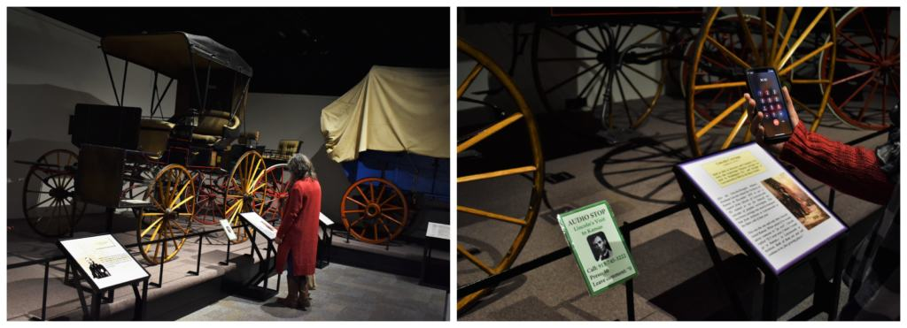 Abraham Lincoln's carriage is one of the unique vehicles on display at the Frontier Army Museum.