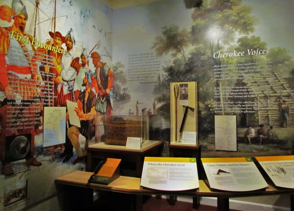 An exhibit on the first residents of the region includes information about the first explorers.