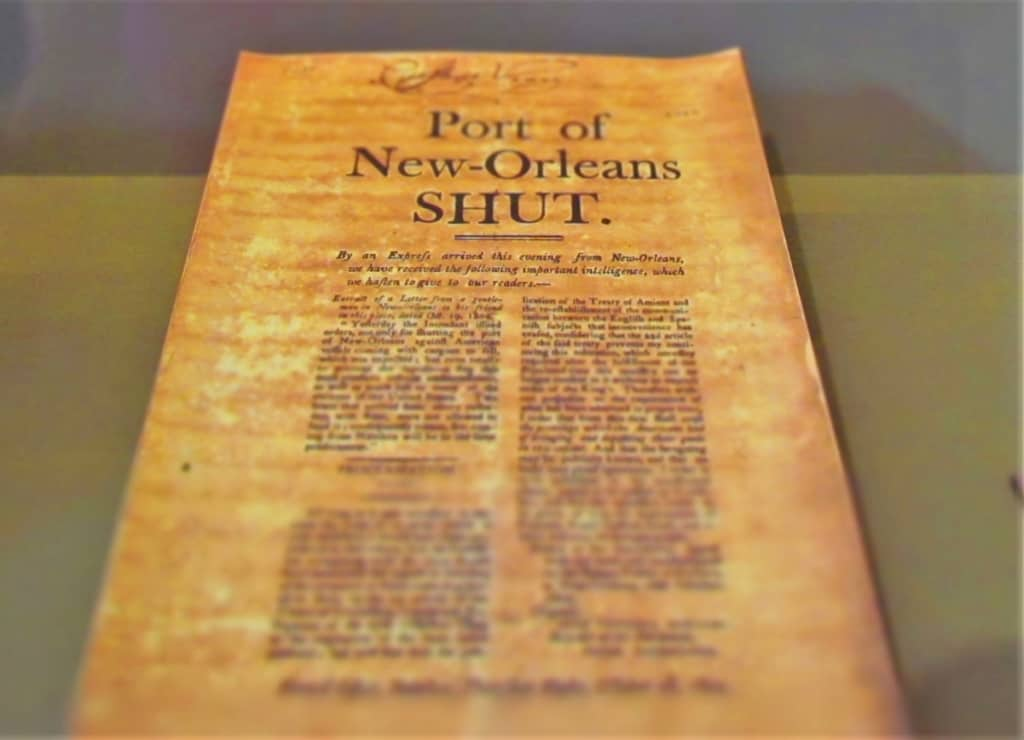 A copy of a historic document can be viewed at The Cabildo in New Orleans.