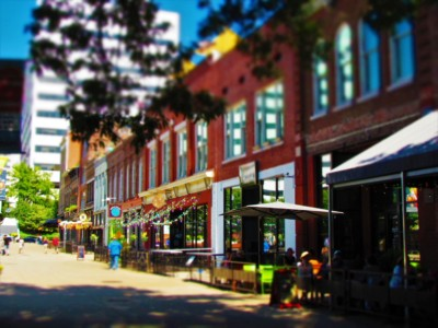 Market Square is filled with interesting shops and delicious eateries like The Tomato Head.