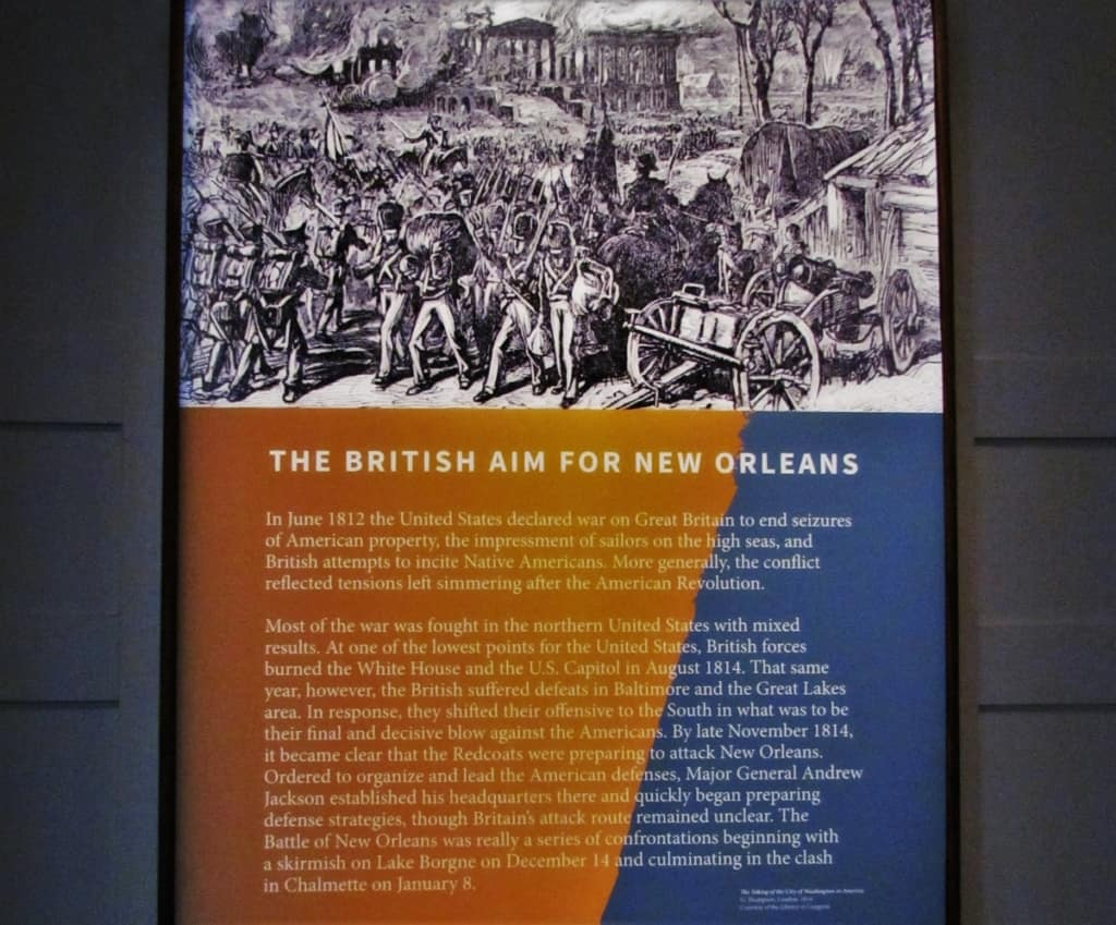 The British Navy and Army bore down on New Orleans with the intention of subduing the city's residents.