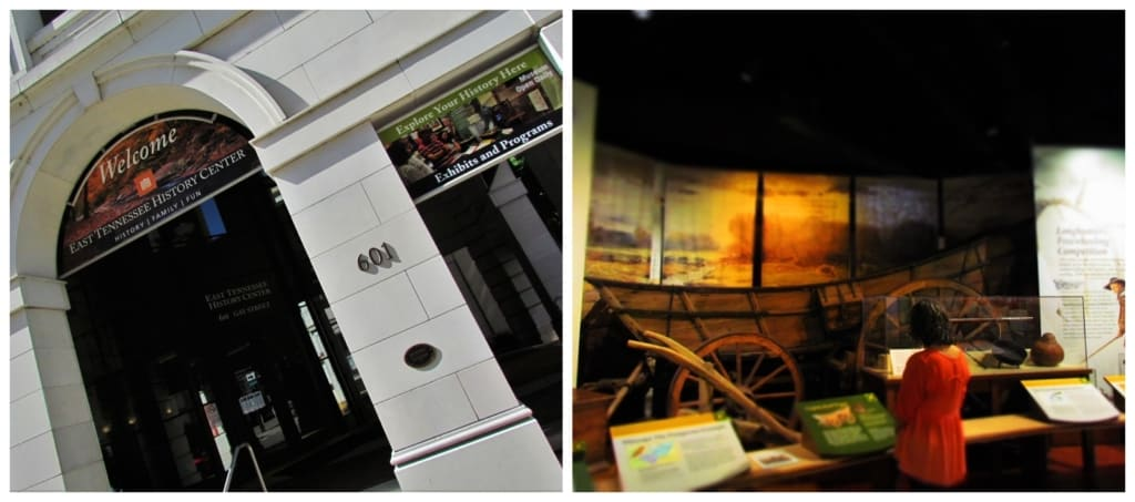 Spending 24 hours in downtown Knoxville included a visit to the East tennessee History Museum.