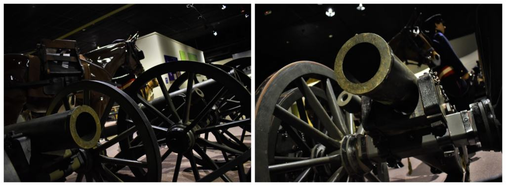 The Frontier Army Museum has many pieces of ordinance on display for visitors to see.