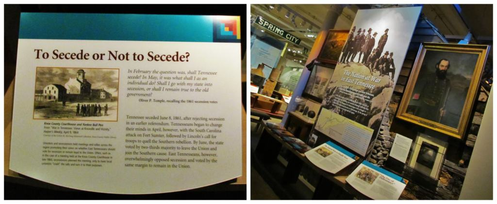East Tennessee didn't share the same opinion about secession as the rest of the state.