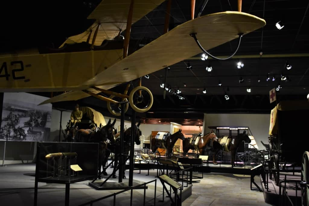 Part of the galleries are dedicated to various modes of transportations during westward expansion.