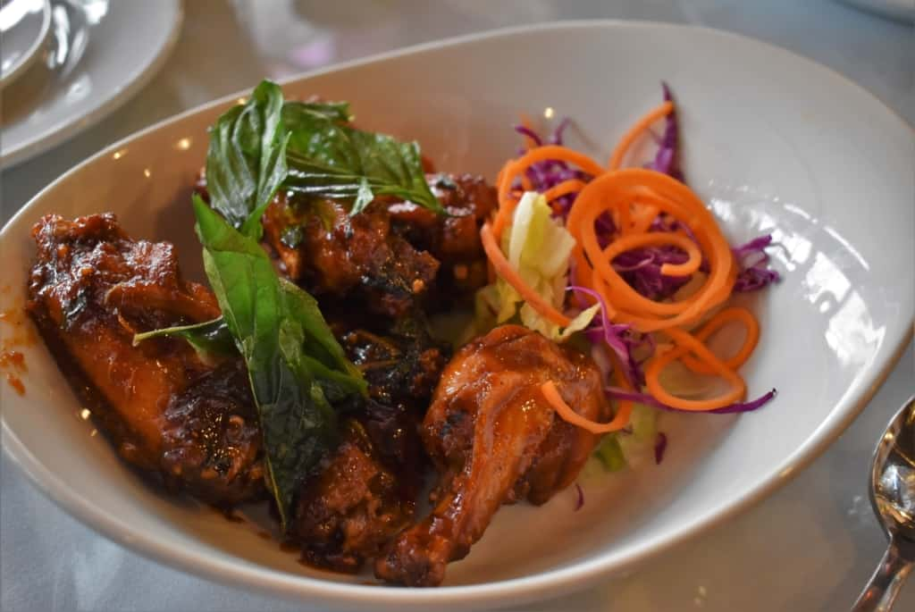 The Spicy Basil Wings are a combination of sweet and spicy all wrapped up in one dish.