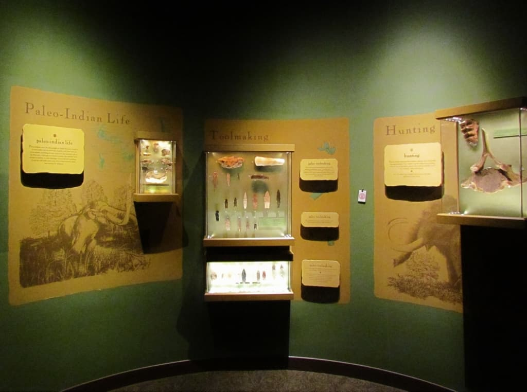 The Paleo Period is the first section of the museum to explain the earliest days of the tribe.