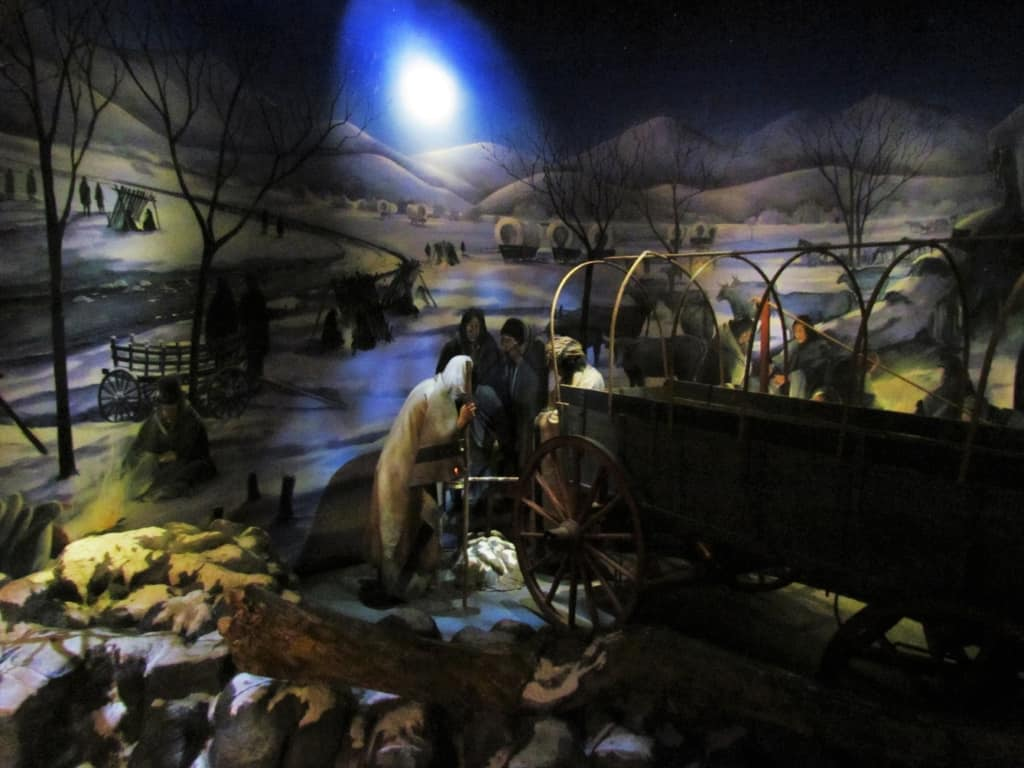 The Trail of Tears was a forced relocation of the Native Americans to the west.