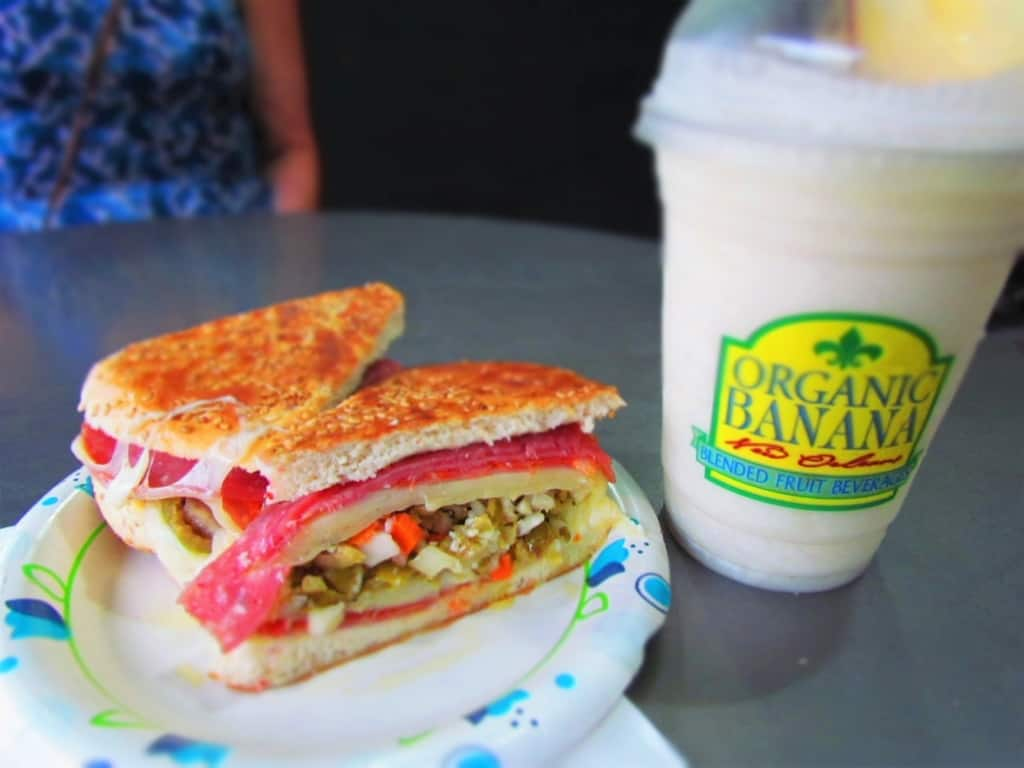 A muffaletta sandwich is a New Orleans classic filled with amazing flavors.